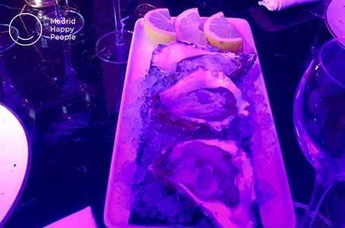ostras, caviar y champán