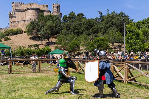 combates y torneos medievales castillo manzanares el real