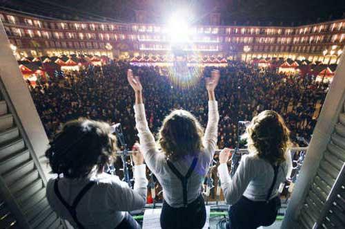conciertos en los balcones de la plaza mayor