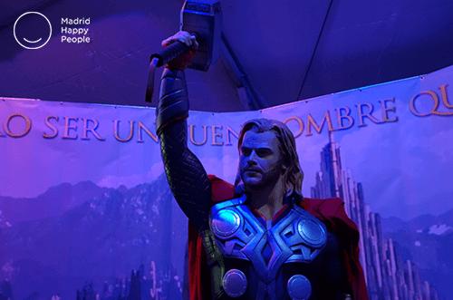 exposición superhéroes navidad 2018