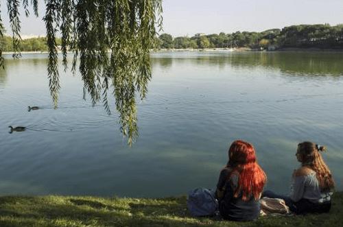 lago casa de campo madrid