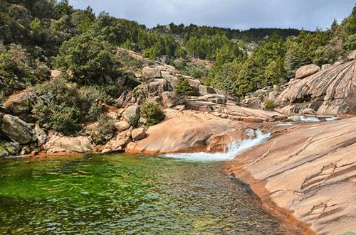 piscinas naturales charca verde la pedriza