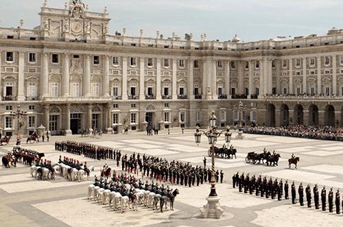 cambio de guardia real palacio de madrid