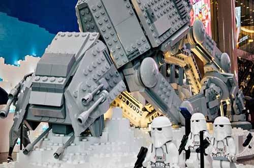 exposición de lego star wars