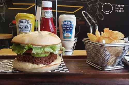 restaurante tates hamburguesa vegana