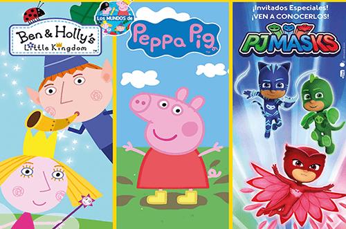 los mundos de peppa pig y ben&holly