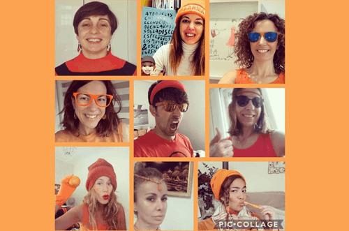 reto del arcoiris #orangetuesday #raimbowweek