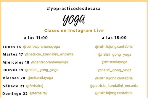 yoga en casa clases disponibles