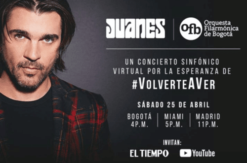 Concierto de Juanes en Youtube
