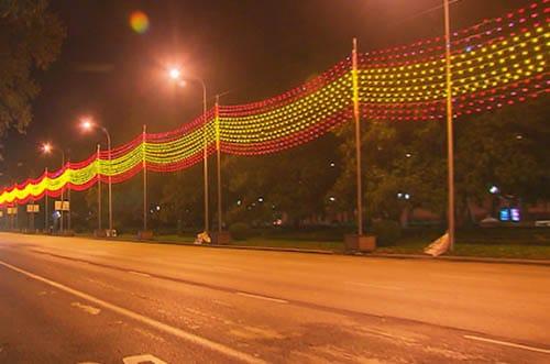 luces navidad madrid bandera española