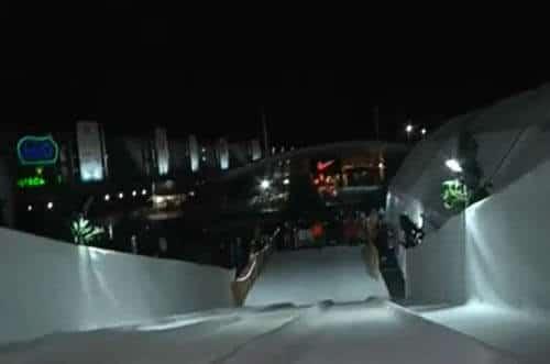 pista de hielo tobogán de hielo
